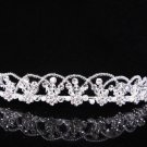 Princess Silver Crystal Wedding Headpiece,Bridal tiara,Comb 376