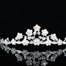 Silver Alloy Pearl Wedding Headpiece,Gorgeous Bridal Tiara,Floral Crown 1312