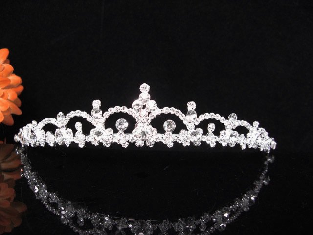 Crystal Wedding Headpiece;elegance Silver Bridal Tiara 352