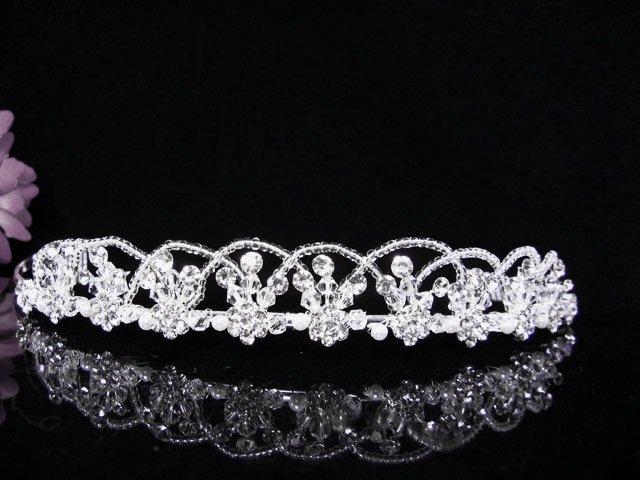 Crystal Wedding Headpiece;elegance Silver Bridal Tiara 376