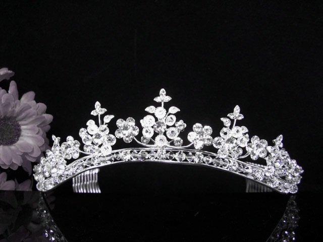 Crystal Wedding Headpiece;elegance Silver Bridal Tiara 428