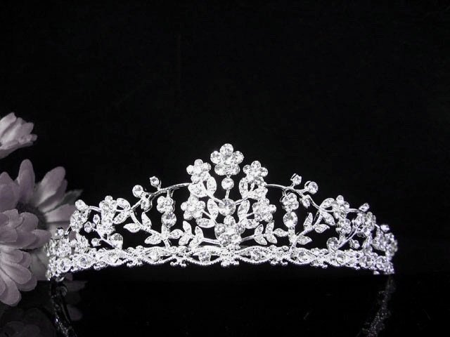 Crystal Wedding Headpiece;elegance Silver Bridal Tiara 517