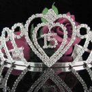 Happy Birthday Sweet 15 Crystal Princess Tiara;Silver Crown Regal #2