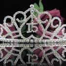 Sweet 15 Crystal Princess Happy Birthday Tiara;Silver Crown Regal #8