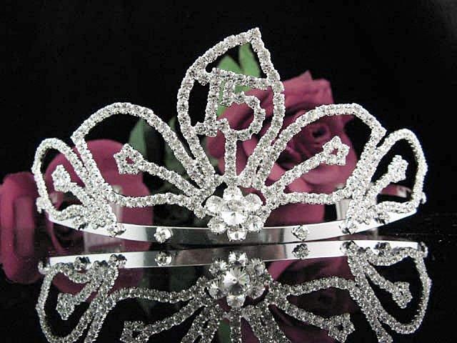 Sweet 15 Crystal Happy Rhinestone Birthday Tiara;Silver Sweetheart Stone Crown Regal #18