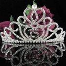 Huge Sweet 15 Crystal Happy Rhinestone Birthday Tiara;Silver Sweetheart Stone Crown Regal #17