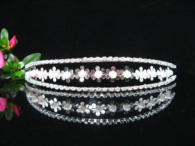Fancy Crystal Wedding Headband;elegance Silver Bridal Tiara 1306