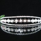 Fancy Crystal Wedding Headband;elegance Silver Bridal Tiara 1306