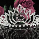 Cute Sweet 15 Crystal Happy Birthday Tiara ;Delicate Silver Sweetheart Crown Regal #47r