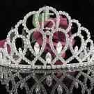 Huge Sweet 15 Crystal Happy Birthday Tiara ;Delicate Silver Sweetheart Crown Regal #50