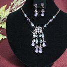 Bridal Necklace Set;Alloy Color jewelry set;sparkle;Rhinestone Wedding Pin Earring set #590