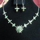 Fashion jewelry necklace set;Bridal Necklace Set;sparkle;Rhinestone Wedding Pin Earring set#613