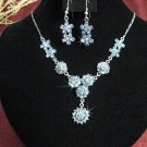 Fashion jewelry necklace set;Bridal Necklace Set;sparkle;Rhinestone Wedding Pin Earring set#617b
