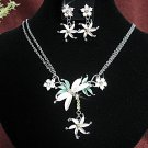 Fashion jewelry necklace set;Bridal Necklace Set;sparkle;Rhinestone Wedding Pin Earring set#754