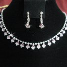 Fashion jewelry necklace set;Bridal Necklace Set;sparkle;Rhinestone Wedding Pin Earring set#3053