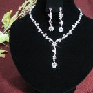 Fashion jewelry necklace set;Bridal Necklace Set;sparkle;Rhinestone Wedding clip Earring set#4179