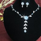 Fashion jewelry necklace set;Bridal Necklace Set;sparkle;Rhinestone Wedding clip Earring set#4396