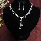 Fashion jewelry necklace set;Bridal Necklace Set;Dangle and drop pin Earring set#4979
