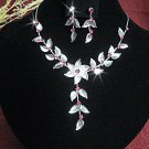 Fashion jewelry necklace set;Bridal Necklace Set;Dangle and drop pin Earring set#5315