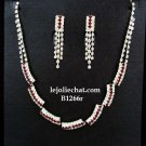 Bridal Necklace Set;Elegance Clip Earring set; Fashion jewelry necklace set #1266r