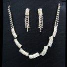 Bridal Necklace Set;Elegance Clip Earring set; Fashion jewelry necklace set #1266s