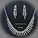 Bridal Necklace Set;Elegance Clip Earring set; Fashion jewelry necklace set #1590p
