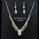 Bridal Necklace Set;Elegance Clip Earring set; Fashion jewelry necklace set #1678