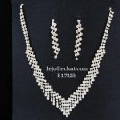 Bridal Necklace Set;Elegance Clip Earring set; Fashion jewelry necklace set #1722