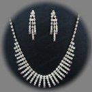 Bridal Necklace Set;Elegance Clip Earring set; Fashion jewelry necklace set #1590pu
