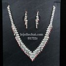 Elegance Clip Earring set; Bridal Necklace Set;Fashion jewelry necklace set #1722r