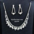 Elegance Clip Earring set; Bridal Necklace Set;Fashion jewelry necklace set #1979