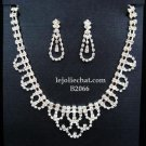 Elegance Clip Earring set; Bridal Necklace Set;Chock Fashion jewelry necklace set #2066