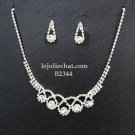 Elegance Clip Earring set; Bridal Necklace Set;Dangle Fashion jewelry necklace set #2344