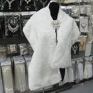 Classic Ivory Faux Fur Shrug Shawl ;Wedding Wrap;Bridal Scarf #sh1