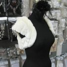 Ivory Faux Fur Shrug Shawl ;Wedding Wrap;Bridal Scarf #sh2