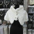 Handmade Ivory Faux Fur Shrug Shawl ;Wedding Wrap;Bridal Scarf #sh5