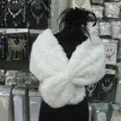 Bridal Faux Fur Shrug : Ivory Shawl Stole ;Wedding Wrap#sh11