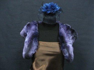 Wedding Sleeve Faux Fur Shawl ;Purple Wedding Bolero Jacket Wrap#sh28Dpu