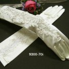 French lace Pearl Bridal Gloves ;elbow satin Bride Gloves #70i