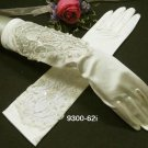 French lace Pearl Bridal Gloves ;satin elbow Bride Gloves #62i