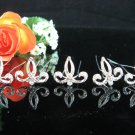 6 PCS BRIDAL HAIRPIN;SILVER SPARKLE ALLOY WEDDING HAIR PIN #123