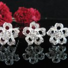 6 PCS BRIDAL HAIRPIN;SILVER ALLOY DAISY WEDDING HAIR PIN #1287