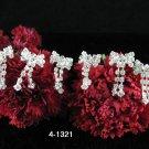 6 PCS BRIDAL HAIRPIN;SILVER CUTE BOW WEDDING HAIR PIN #1321