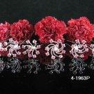 6 PCS BRIDAL HAIRPIN;SILVER PINK CRYSTAL WEDDING HAIR PIN #1963P