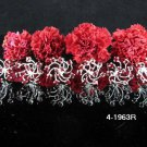 6 PCS BRIDAL HAIRPIN;SILVER RED CRYSTAL WEDDING HAIR PIN #1963r