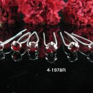 6 PCS BRIDAL HAIRPIN;SILVER RED CRYSTAL WEDDING HAIR PIN #1978r