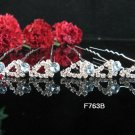 6 PCS BRIDAL HAIRPIN;SILVER CRYSTAL WEDDING HAIR PIN #763b
