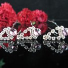 6 PCS BRIDAL HAIRPIN;SILVER CRYSTAL PURPLE WEDDING HAIR PIN #763PU