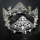 Bridal Bride Silver Crystal Small Crown ;Delicate Handmade Tiara Regal ;wedding hat #8542