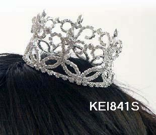 Bridal Bride Silver Crystal Small Crown ;Delicate Silver Tiara Regal ;wedding headpiece#841G